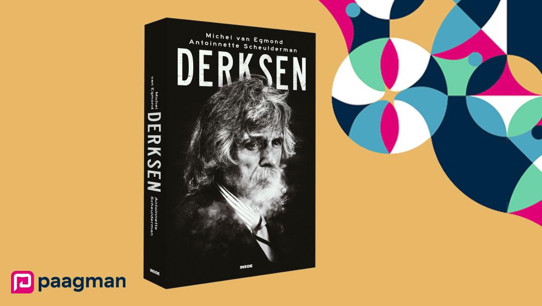 Johan Derksen signeert zijn biografie bij Paagman