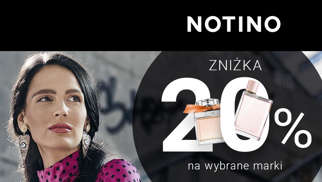Zniżka 20% na wybrane marki w NOTINO