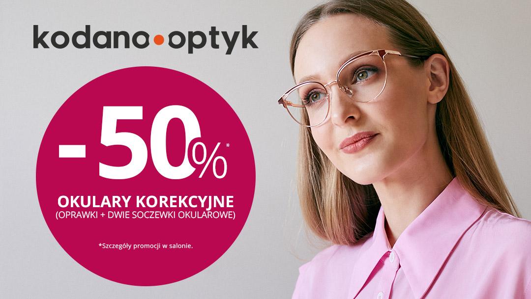 Wszystkie okulary korekcyjne 50% taniej