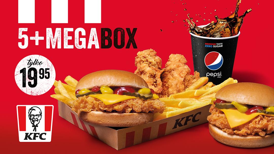 5+MEGA BOX tylko 19,95 zł w KFC