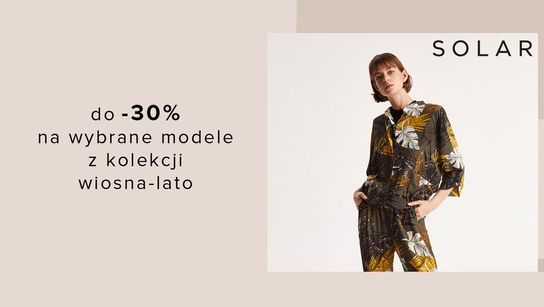 Do -30% na nową kolekcję w SOLAR