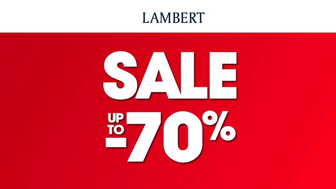 Sale do -70% w Butiku Lambert