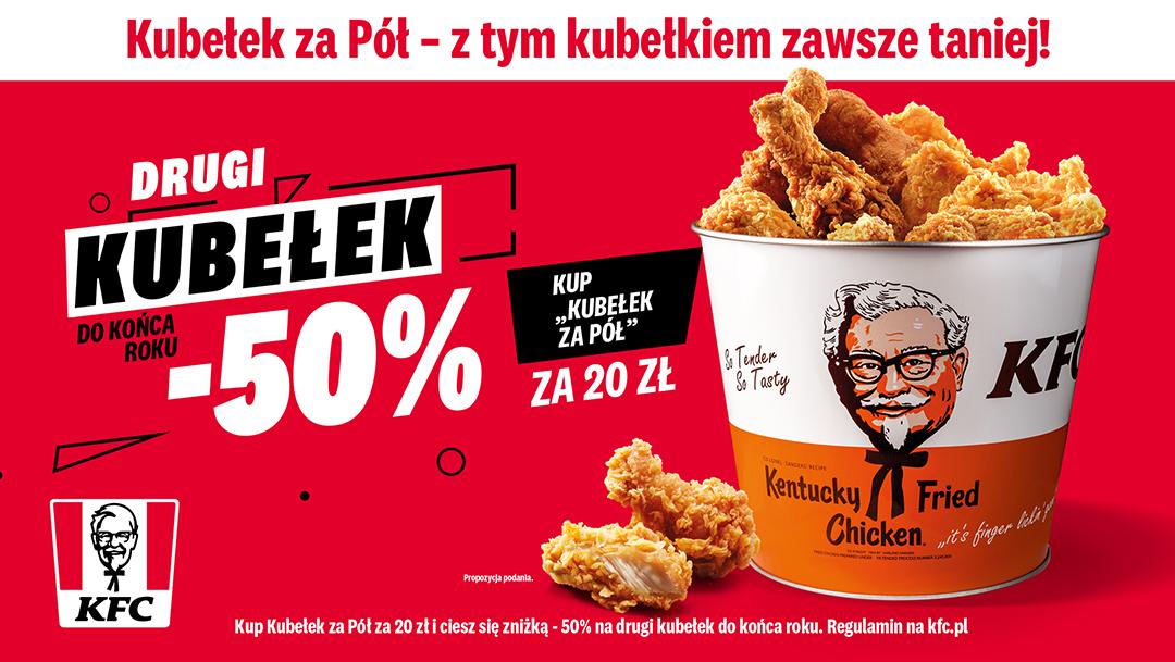 Drugi Kubełek do końca roku 50% taniej w KFC