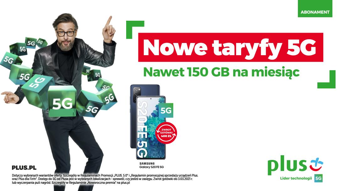 Nowe Taryfy 5G w Plusie
