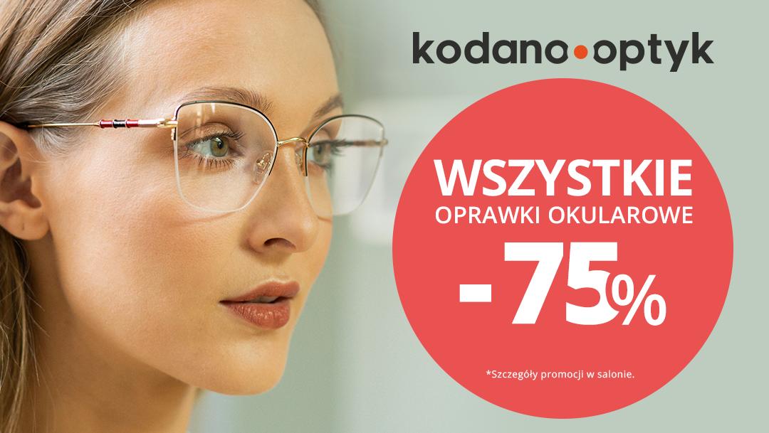 WSZYSTKIE oprawki okularowe  75% taniej w Kodano