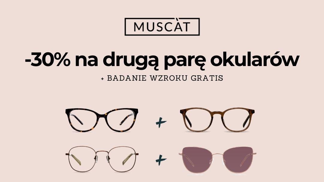 Salon optyczny MUSCAT zaprasza na darmowe badanie wzroku!