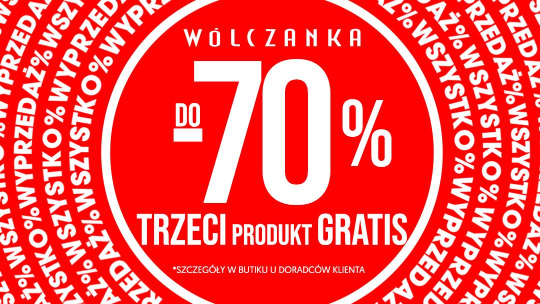 Wyprzedaż do -70% w butiku Wólczanka