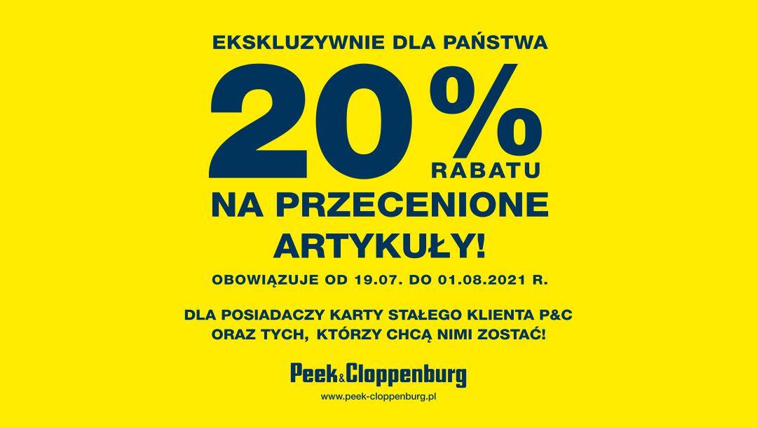 Ekskluzywny rabat 20% w Peek & Cloppenburg