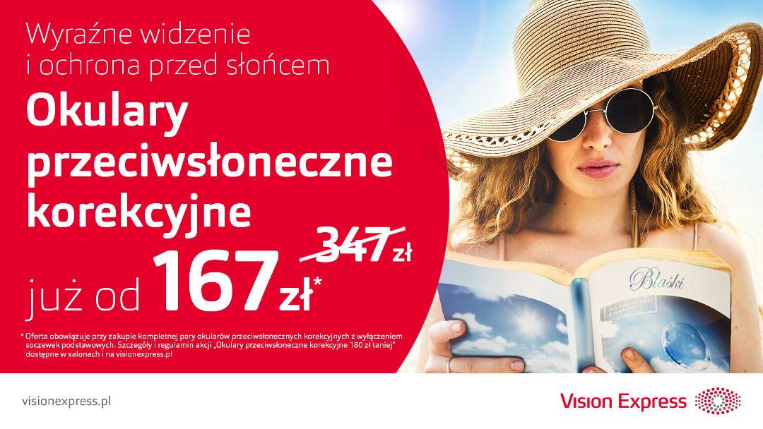 Okulary przeciwsłoneczne korekcyjne taniej w Vision Express