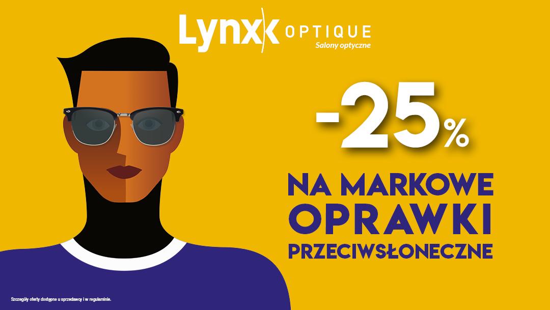 -25% na markowe oprawy przeciwsłoneczne w Lynx Optique