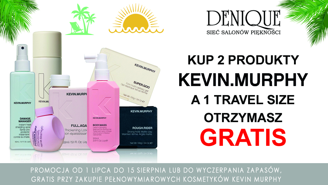 Letnia oferta na kosmetyki Kevin Murphy w Denique