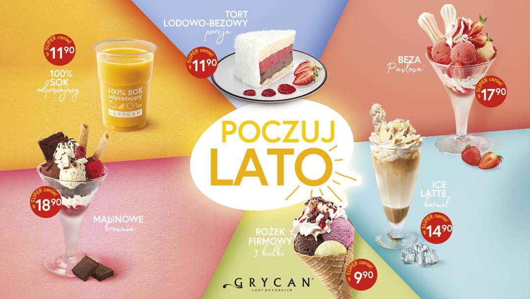 Poczuj lato w lodziarnio-kawiarniach Grycan!