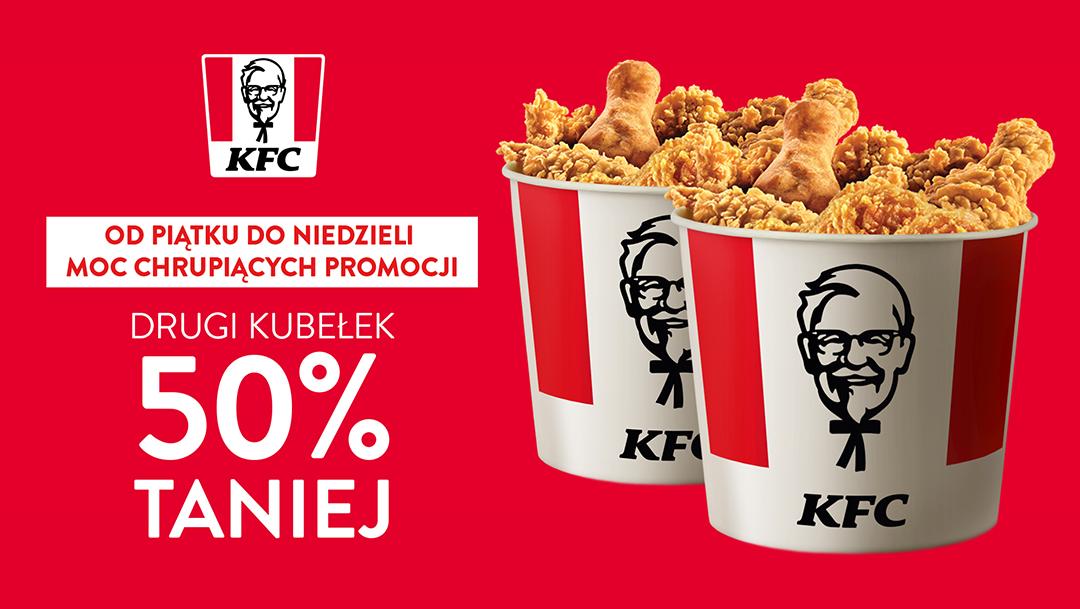 Drugi Kubełek 50% taniej w KFC