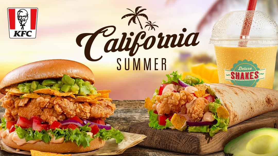 California Summer Menu w KFC