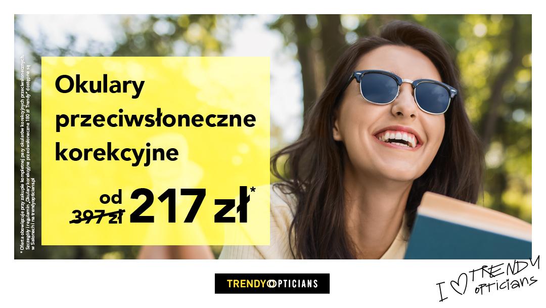 Okulary przeciwsłoneczne korekcyjne od 217zł w Trendy Opticians