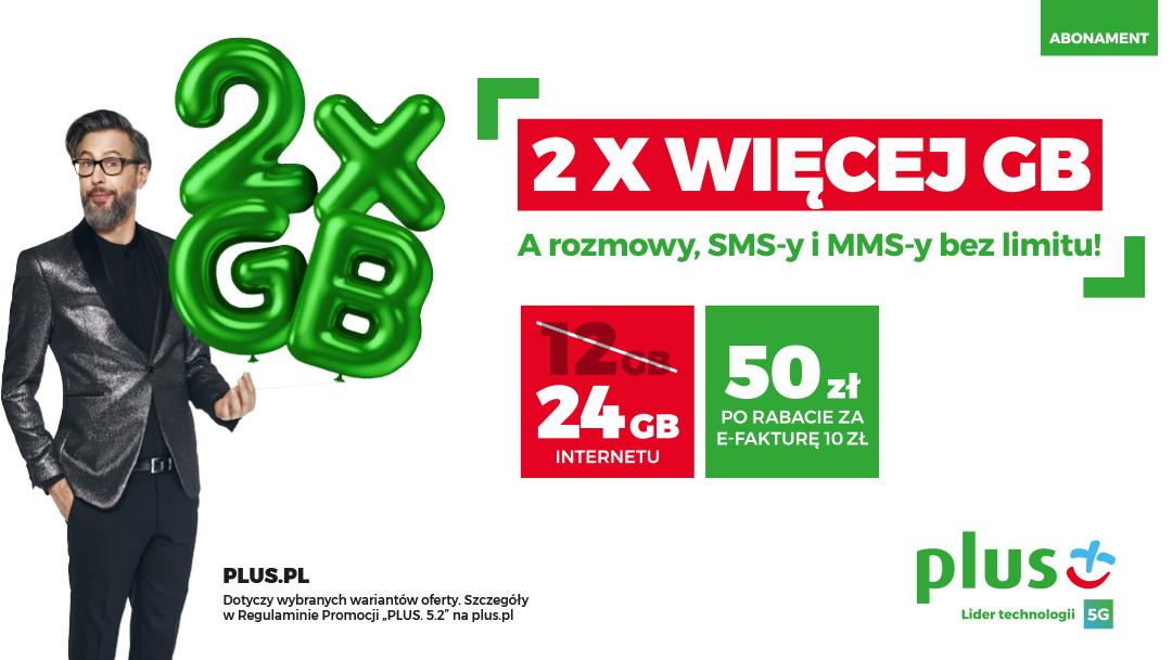 2 X WIĘCEJ GB w Plusie