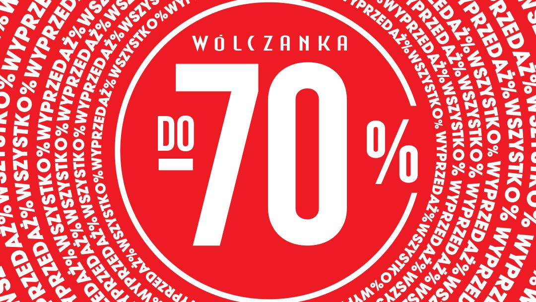 Wyprzedaż do -70% w salonie Wólczanka