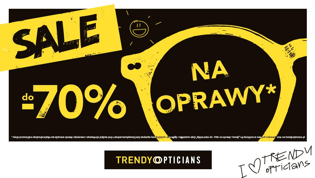 Letnia wyprzedaż w salonach Trendy Opticians!