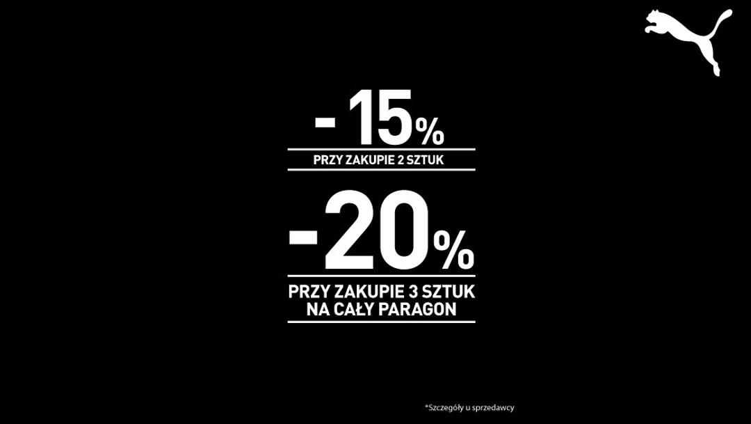 Od -15% do -20% na wszystko