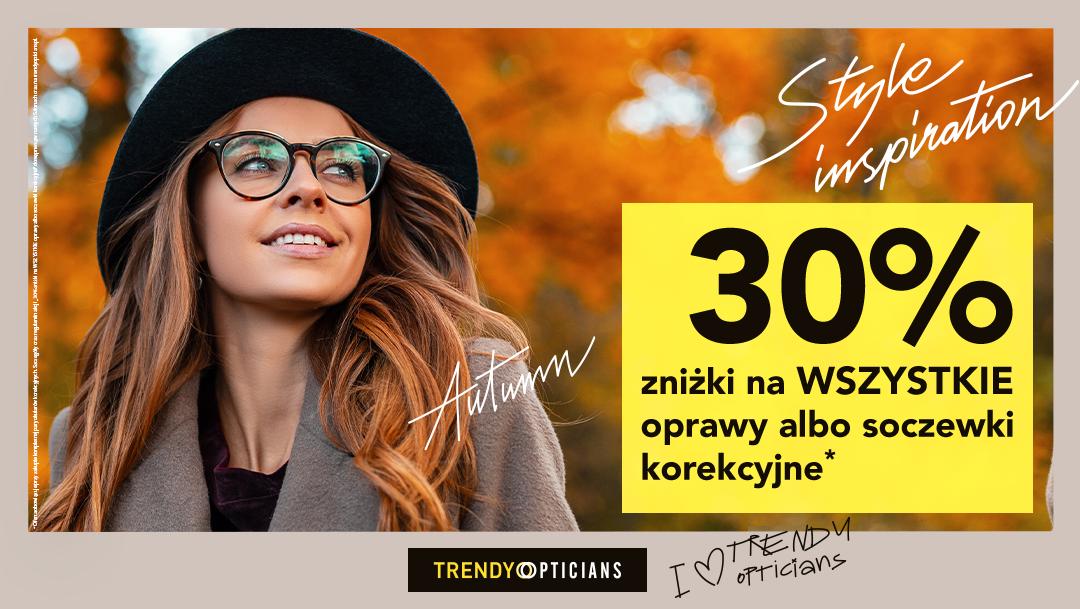 Jesienna promocja w salonach optycznych Trendy Opticians