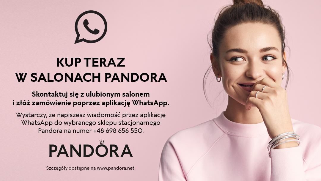 Sprzedaż WhatsApp w salonach Pandora