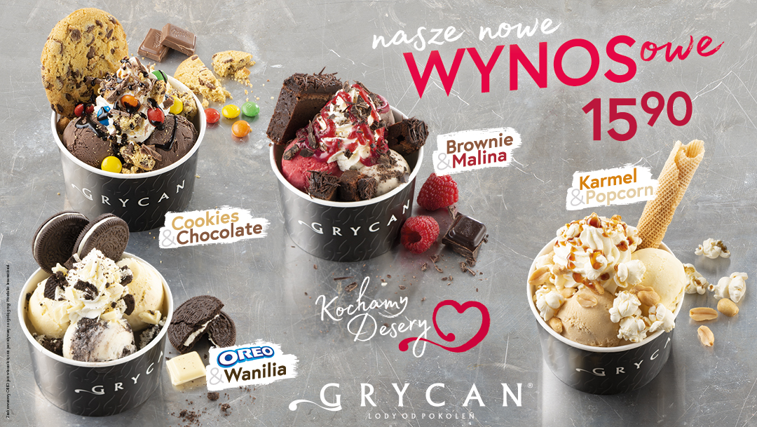 Wynosowe desery u Grycana