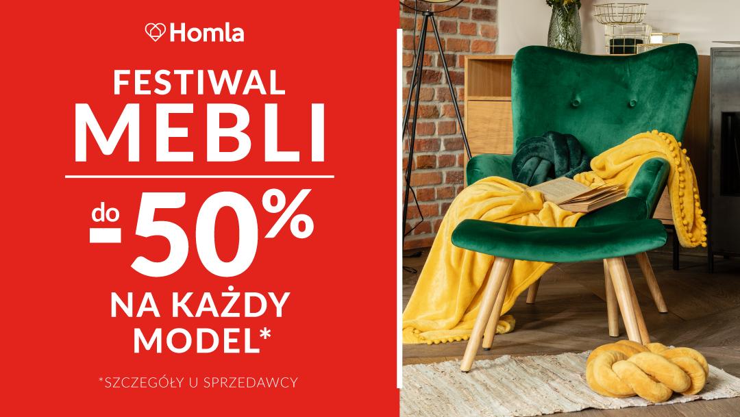 Festiwal Mebli do -50% w HOMLA