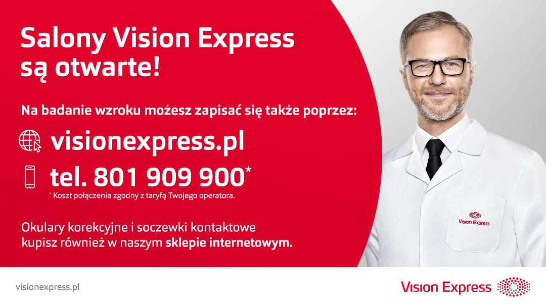 Zapraszamy do salonu Vision Express