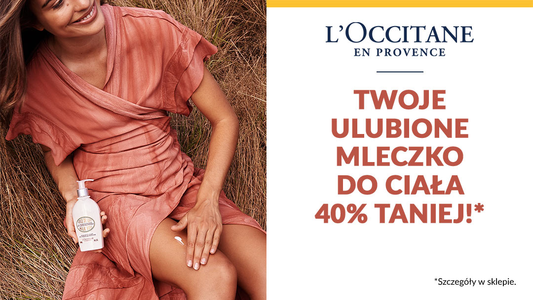 MLECZKO DO CIAŁA 40% TANIEJ W L'OCCITANE