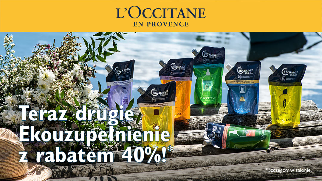 Drugie ekouzupełnienie z rabatem 40% w L'Occitane
