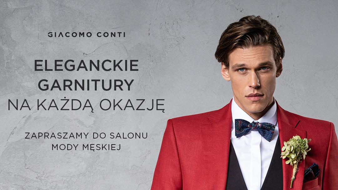 Eleganckie garnitury na każdą okazję w Giacomo Conti
