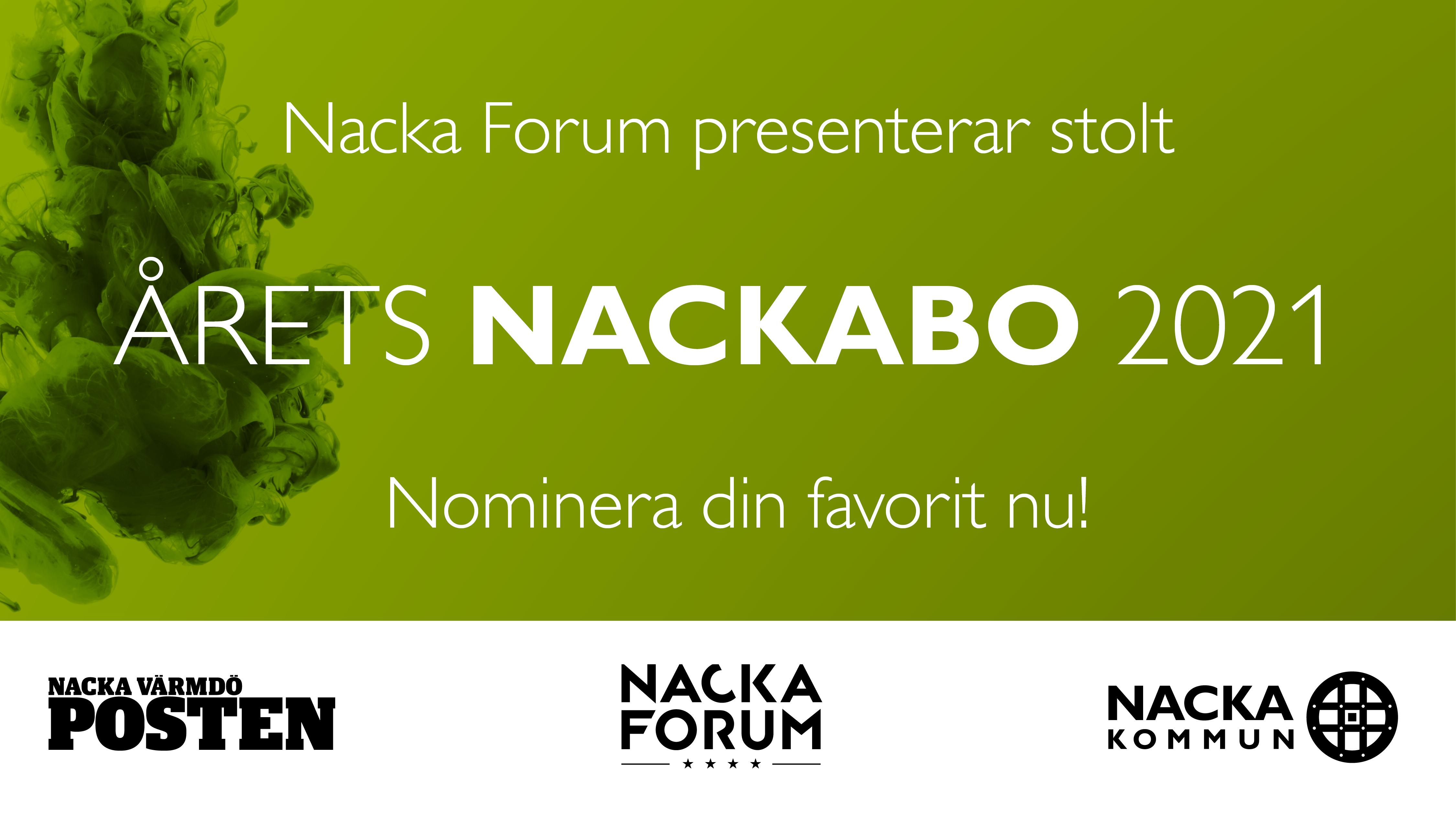 Nacka Forum presenterar Årets Nackabo 2021