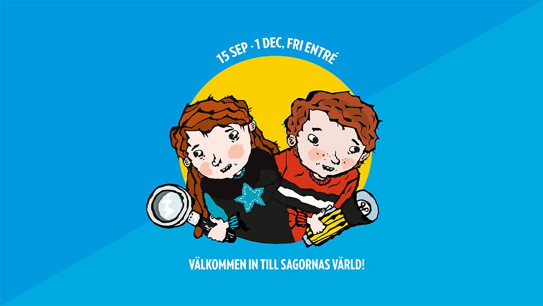 Nackas Forums bibliotek bjuder in till barnutställningen Bok&Lek