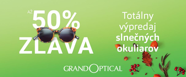 Totálny výpredaj slnečných okuliarov v GrandOptical!