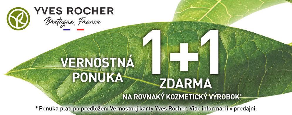 1+1 ZDARMA pre členov Klubu Yves Rocher