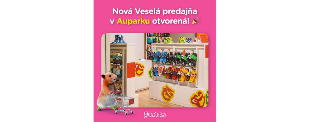 K veselému kiosku pribudla aj nová Veselá predajňa Dedoles!