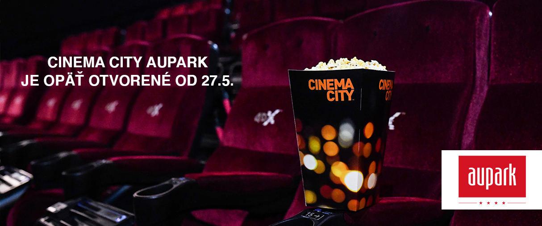 Cinema City Aupark je opäť otvorené od 27.5.