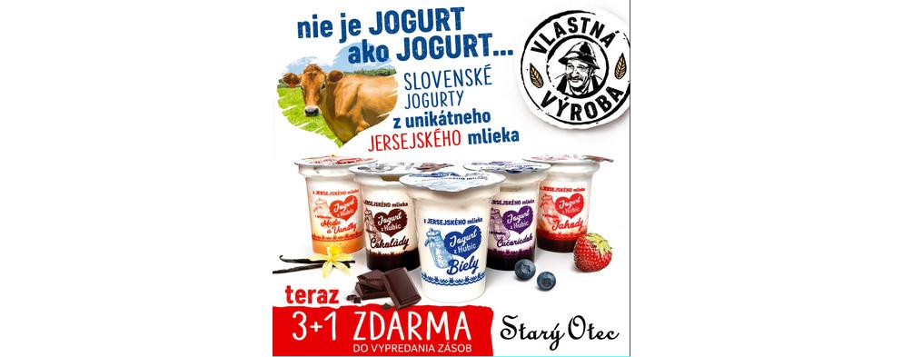 Slovenské jogurty z jersejského mlieka
