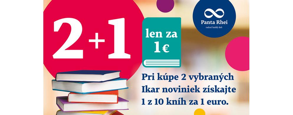 Uvítacia knižná akcia 2 + 1 len za 1€