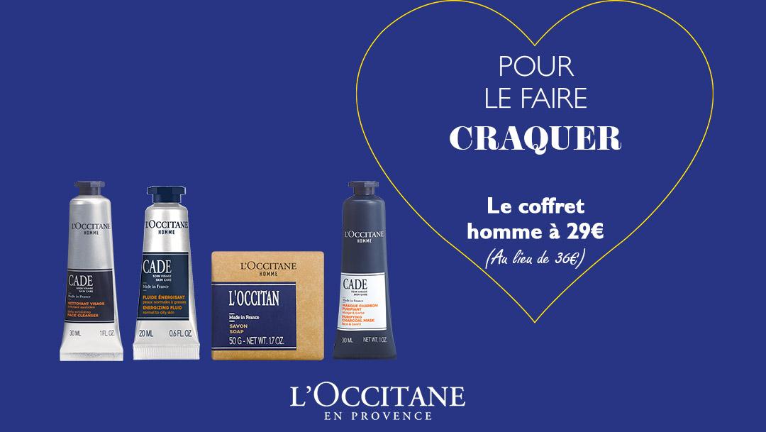 La Saint Valentin pour lui chez L'Occitane En Provence