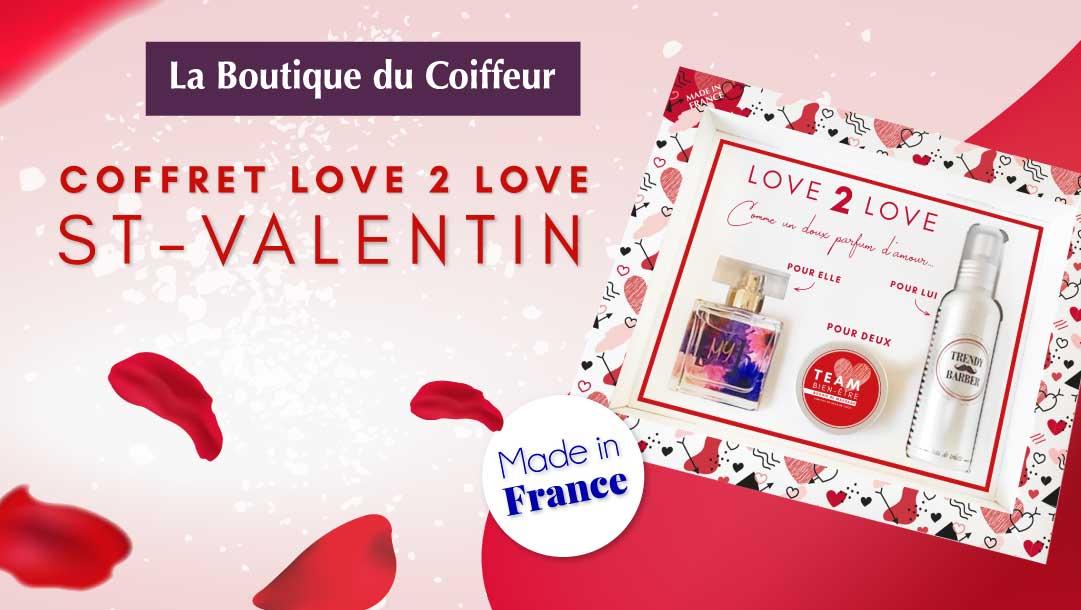 Craquez pour le coffret La Boutique du Coiffeur spécial Saint Valentin
