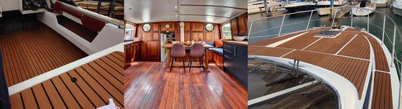 Marine Flooring, use NAVYLAM+ In Narrow Boats and Yachts