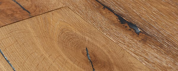 Full close image of distressed wooden floor