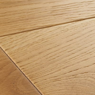 Close up of LED Oiled Wood Flooring