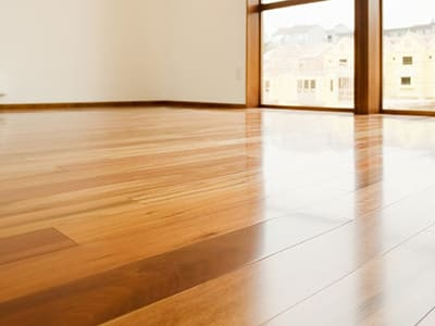 room shot with hardwood flooring