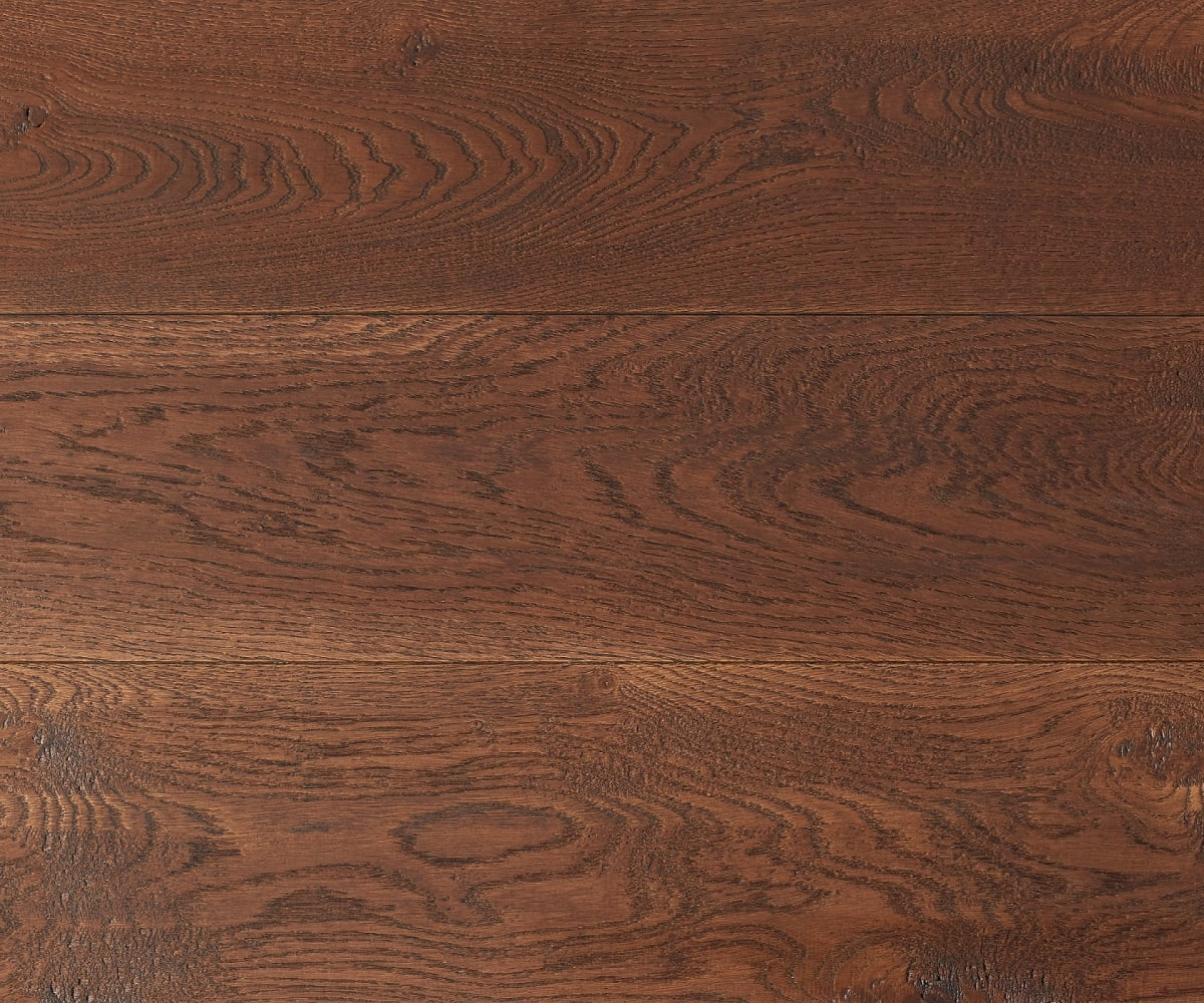 Big Earth Stained Oak Handscraped Brushed UV Oiled Engineered Hardwood Flooring