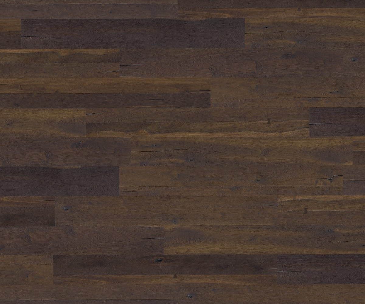 Charlottenburg Oak Dark Smoked Oiled Heavy Distressed Brushed 290mm Hardwood Flooring