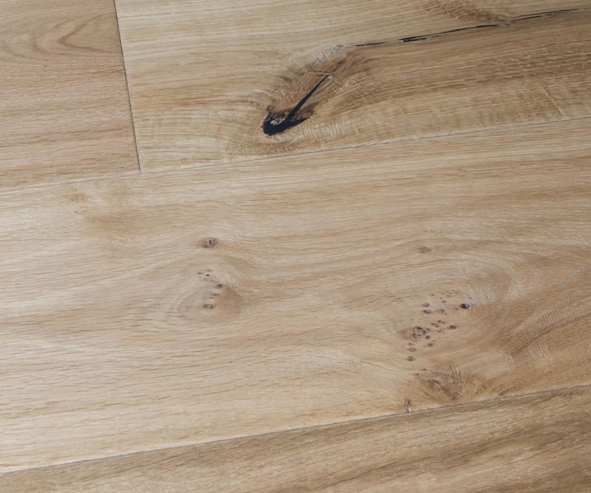 Rustic Barley Oak Hard-Waxed Oiled Hand-Scraped & Distressed 240mm Hardwood Flooring