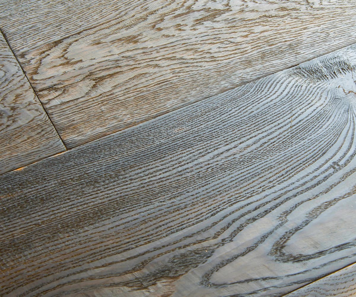 Furrowed Rustic Oak Hard-Waxed Oiled Hand-Scraped & Distressed 240mm Hardwood Flooring