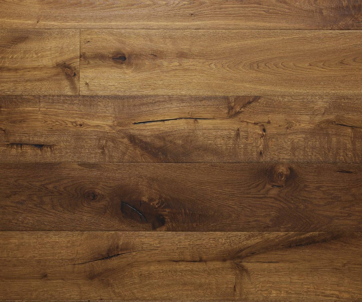 Montpellier Oak Smoked Brushed Hand-Scraped Oiled Hardwood Flooring